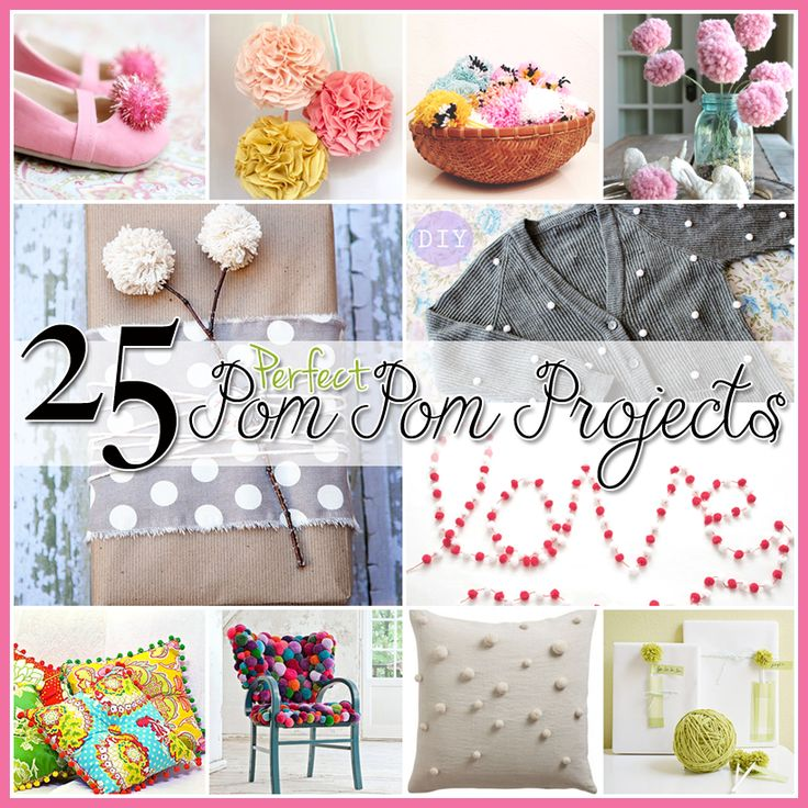 The Cottage Market: 25 Pom Pom Projects Home Decor, Clothes and Great FUN for the kids!