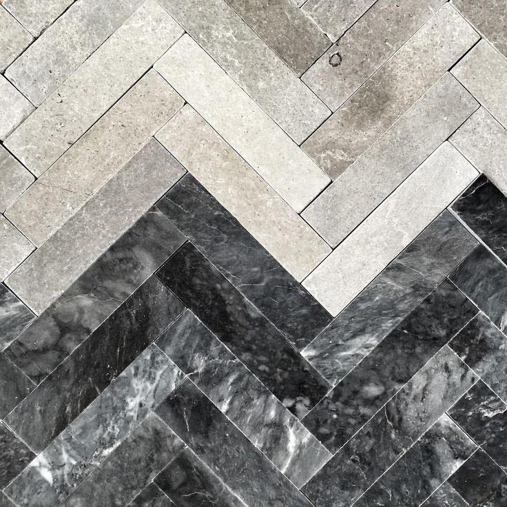 2 new tiles in stock. Fishbone dark and Fishbone grey tumbled #fishbone #harringbone #fiskben