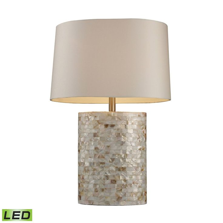 Trump Home Sunny Isles LED Table Lamp In Genuine Mother of Pearl D1413-LED