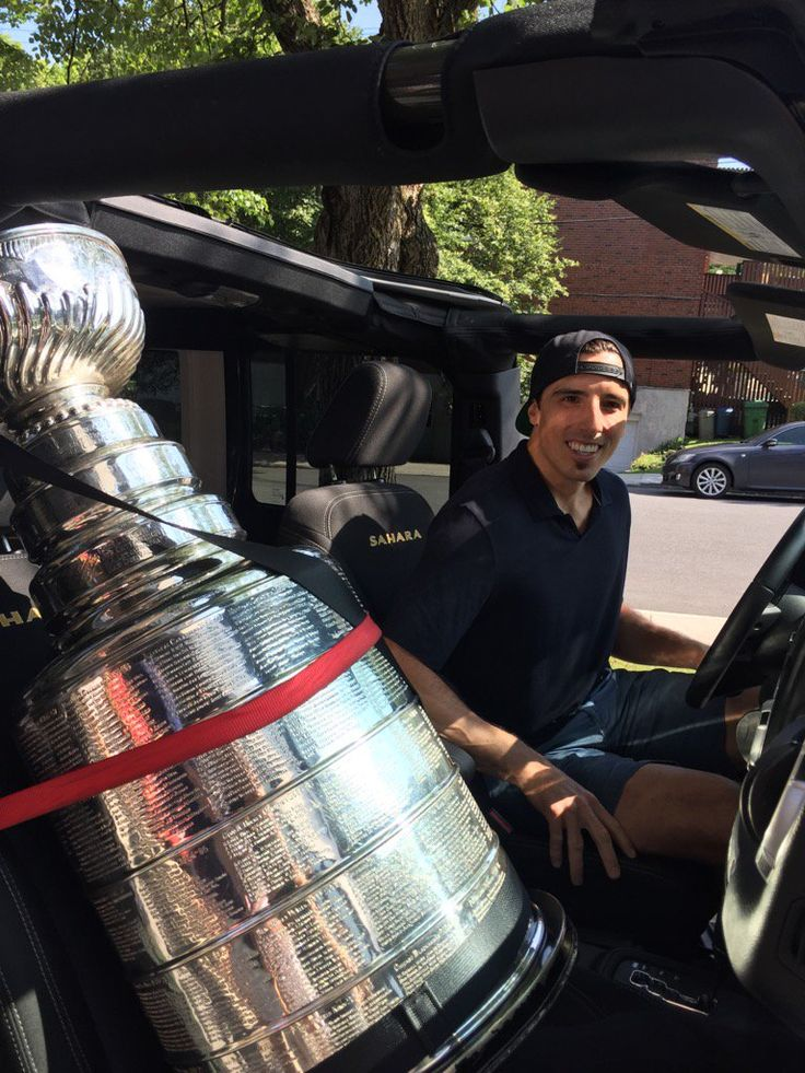 Fleury with the Stanley Cup