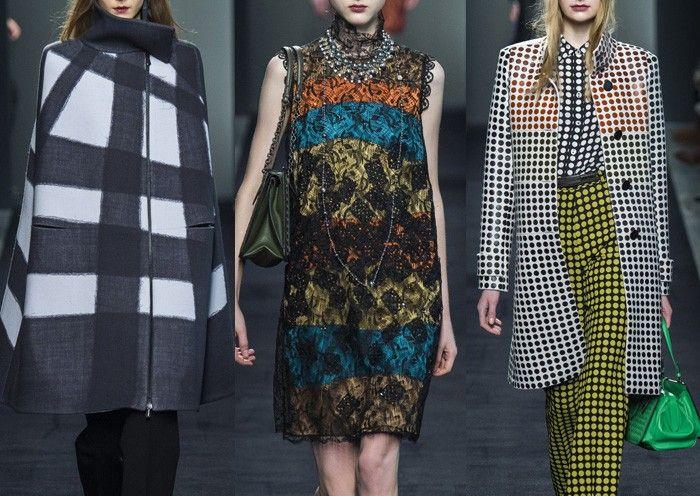BOTTEGA VENETA  l  Bold Overprinted Check – Lacy Overprints – Textured Knit – Head to Toe Polka Dot – Bold Abstract Colour Blocking MILAN Fashion Week