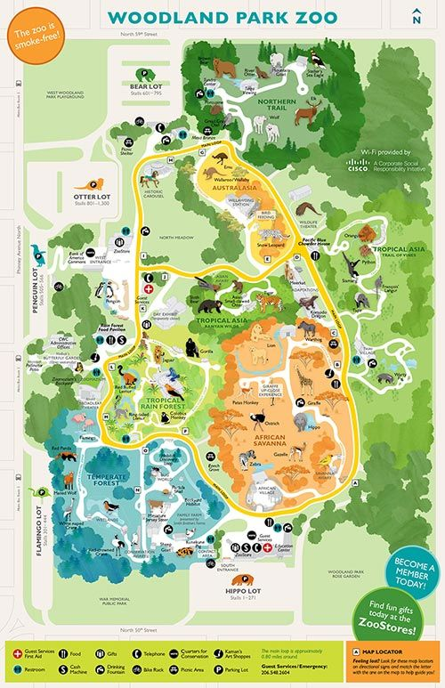 Guest Services - Map, Rentals & Accessibility - Woodland Park Zoo Seattle WA