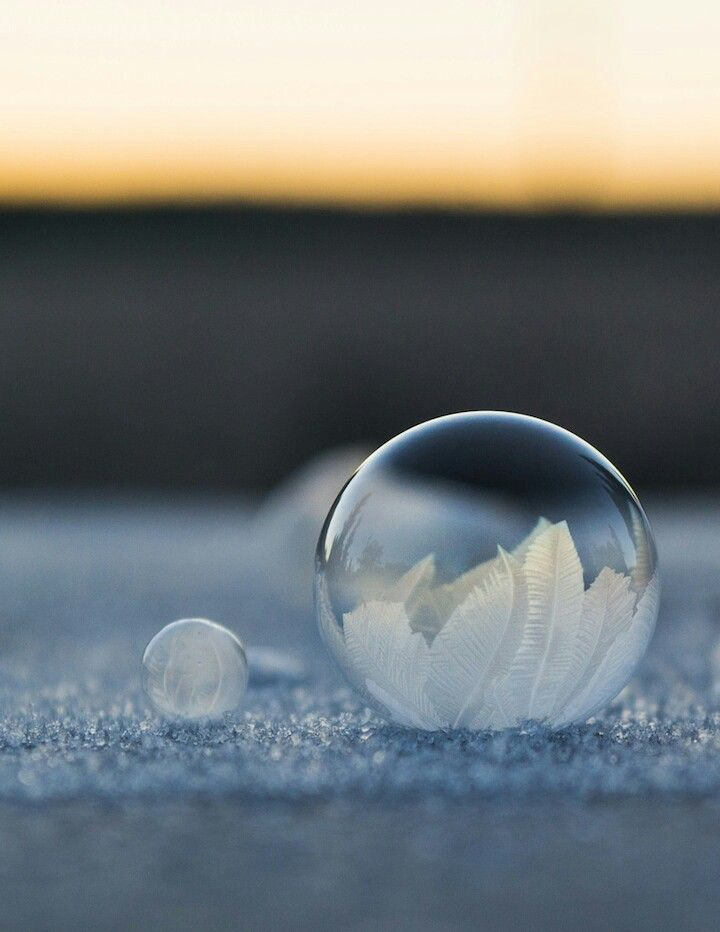 Angela Kelly's pictures of bubbles freezing in a matter of seconds.