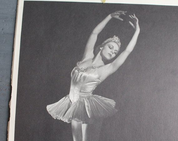 Vintage Ballerina Print Book Plate Vintage Ballet Print