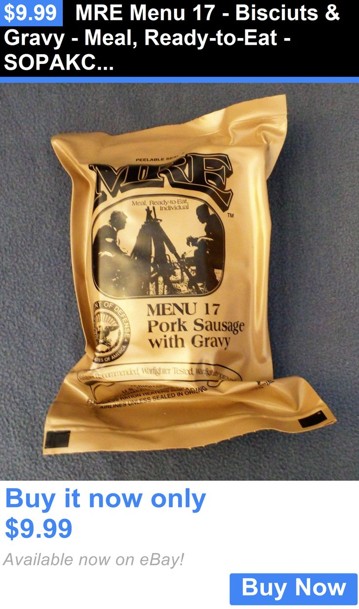 Food And Drink: Mre Menu 17 - Bisciuts And Gravy - Meal, Ready-To-Eat - Sopakco Survival Food BUY IT NOW ONLY: $9.99