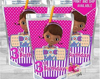 Doc Mcstuffins Capri Sun labels-Doc Mcstuffins birthday party-Doc Mcstuffins juice-party favor-1st, 4th, 6th birthday party-DIGITAL FILE