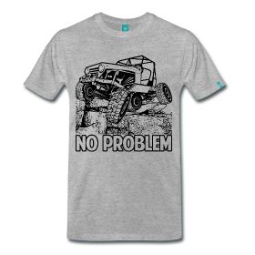 Men's Premium T-Shirt Classic cut t-shirt for men, 100% cotton (heather gray is 95% cotton/5% viscose).  Jeeps are awesome and now you can show your true sports side. This shirt is the new Jeep look. Just come and see our men's sports vehicle shirts.