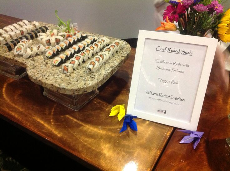 Canadian Honker Events at Apace, Rochester MN #sushi #foodstation #wedding