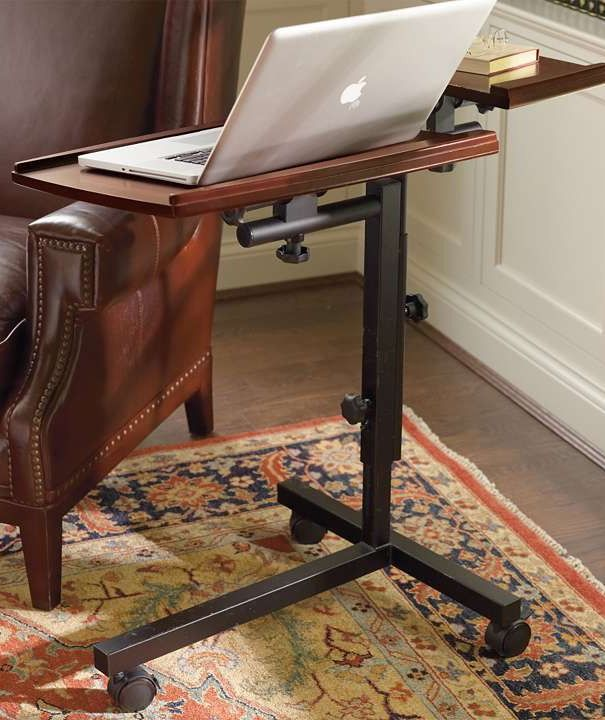 Surf the web of get work down while seated in your favorite chair.Traditional Desks, Gift Ideas, Favorite Chairs, Caddy Traditional, Laptops Caddy, Desks Design, Christmas Gift, Offices Furniture, Frontgate Holiday