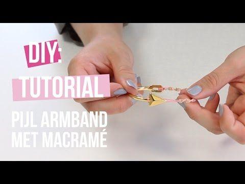 DIY Tutorial: Zelf sieraden maken - Basis armband pijl van DQ met Macramé
