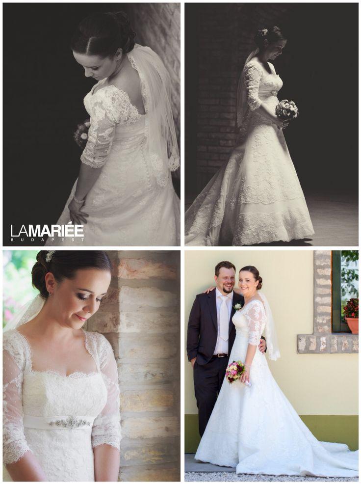 Brandie esküvői ruha - Pronovias kollekció - Marcsi menyasszonyunk Bridal Mirage fátyolban http://bridalmirage.hu/csipkes-fatyol/   http://mobile.lamariee.hu/eskuvoi-ruha/pronovias-2015/brandie
