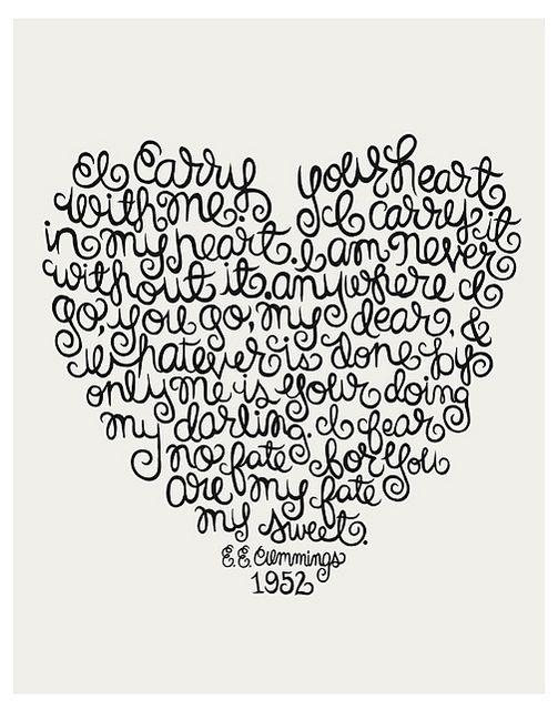 Love this E.E. Cummings Quote Illustration. | Also tattoo?