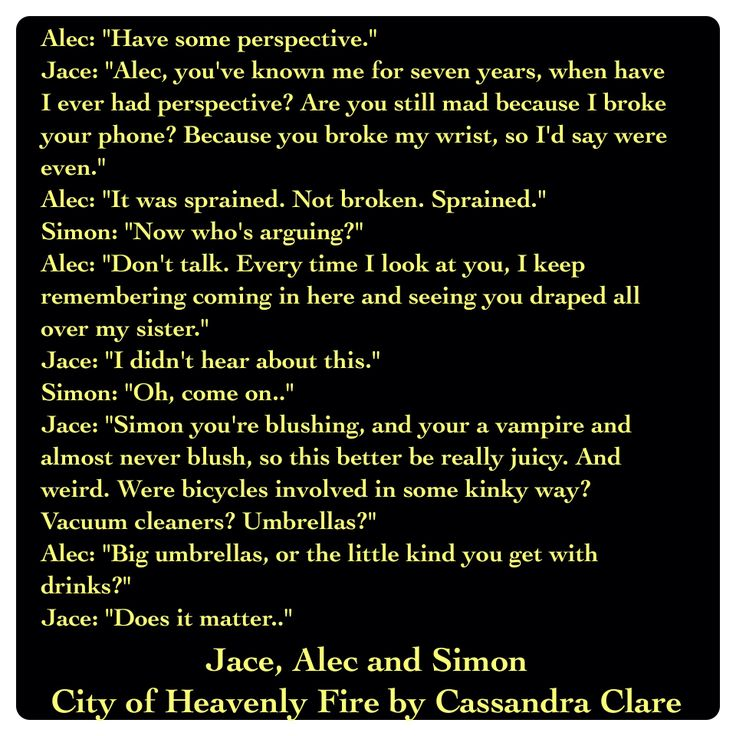 Jace Lightwood, Alec Lightwood, and Simon Lewis (City of Heavenly Fire by Cassandra Clare ~ The Mortal Instruments book 6) Quote