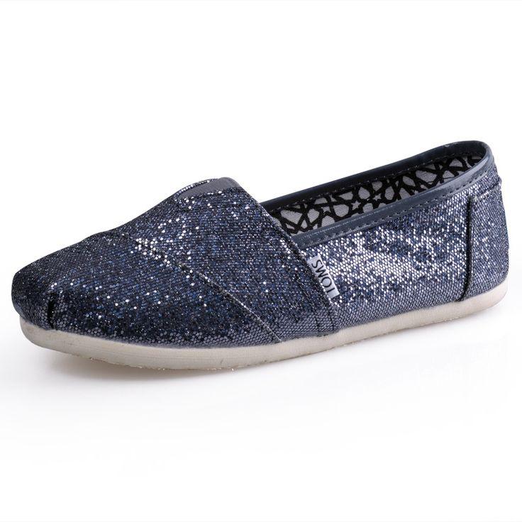 Cheap Toms Glitters classics Women gray iron Outlet