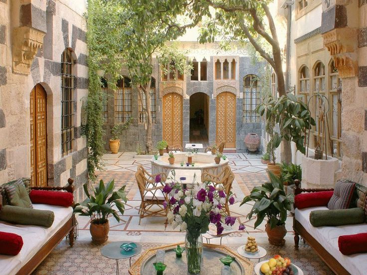 Damascus syrian architecture interiors home design and for The damascus house