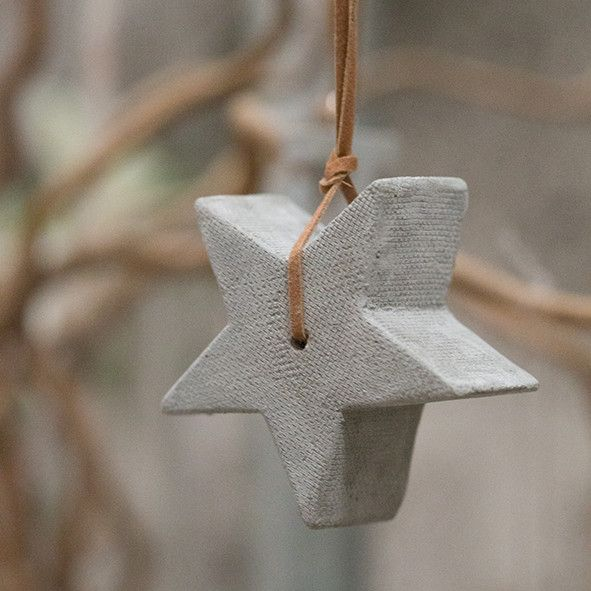 Mini Hanging Concrete Star by Tutti & Co.