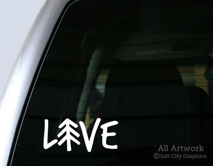 Live outdoors vinyl sticker vinyl decal recreationist love nature pine tree car decal laptop sticker window or bumper sticker