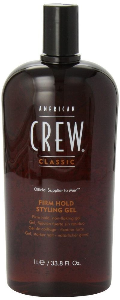 Hair Styling Gel American Crew Extra Firm Hold Natural Thicker Men 33.8 oz. Best #AmericanCrew