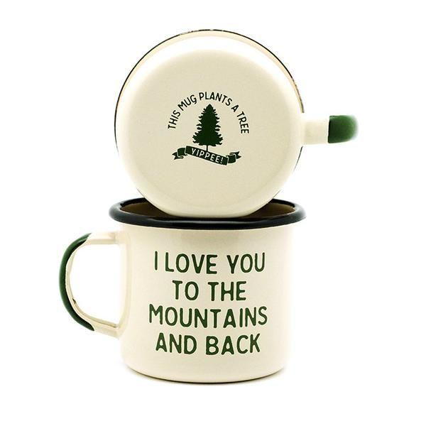 Mountain Lovin' Enamel Camp Mug - Set of Two – Village and Wild