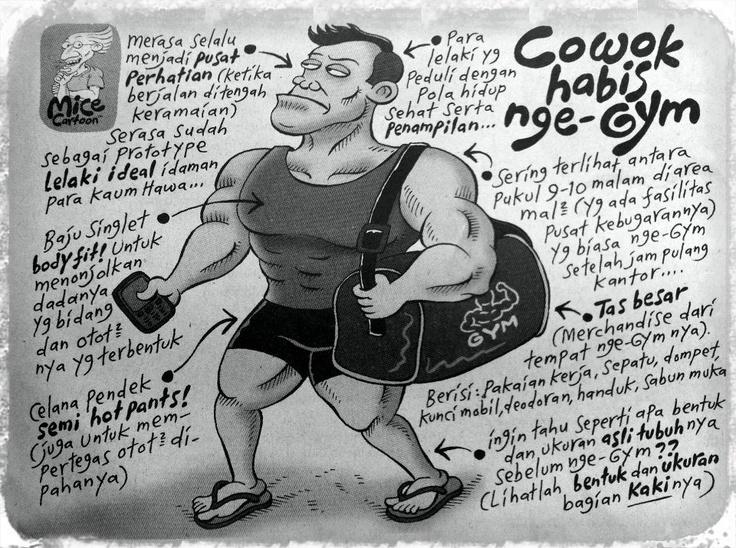 Mice Cartoon (Kompas, 28.April.2013): Cowok Habis Nge-Gym