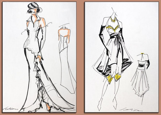 dessin couleur et noir et blanc: Croquis Mode, Top Hats, Dessin Couleur, Laurie S Archive, Fashion Illustrations, Tops Hats