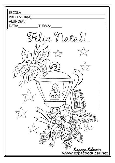 Lindos desenhos de Natal para colorir, pintar, imprimir! Servem como capa de Prova de Natal ou Atividades de Natal! - ESPAÇO EDUCAR