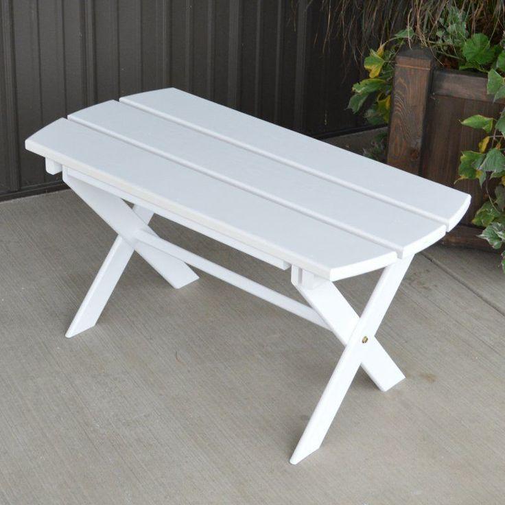 A & L Furniture Yellow Pine Folding Coffee Table White - 672-WP WHITE