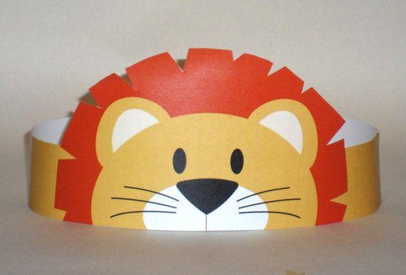 Lion Paper Crown Printable van PutACrownOnIt op Etsy, $2.00