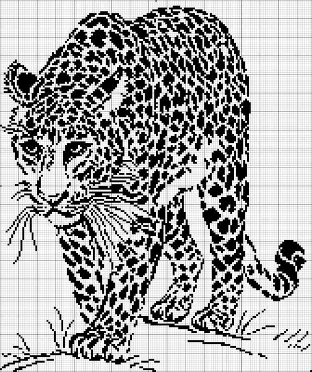 Вышивка крестом черно белая графика