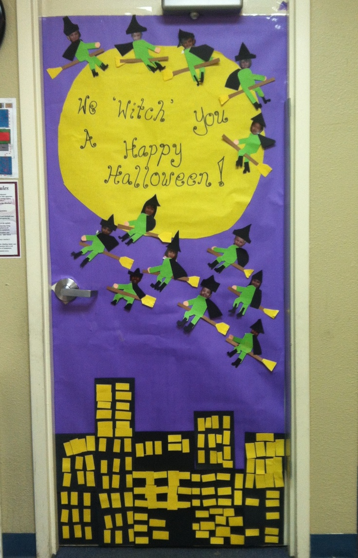 Halloween dorm door decorations - Halloween Door