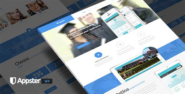 Appster #WordPress Landing Page by eriktailor - #webdesign #template #themeforest #clean #minimal #app #onepage #parallax #inspiration #business #corporate #portfolio