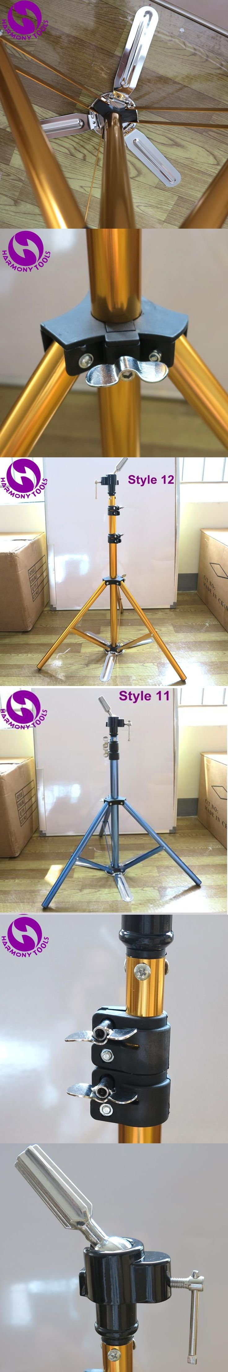 HARMONY 1 Piece Adjustable Gold Pedal Aluminum Alloy Hairdressing Training Mannequin Heads Tripod Holder Clamp Floor Stand