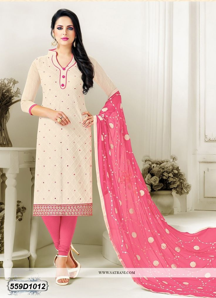 Buy Mesmerising Off White Colored Cotton Unstitched Designer salwar Suit Online at Satrani Fashion. Latest Designer salwar Suit Online for Women at best Price. Buy Now!