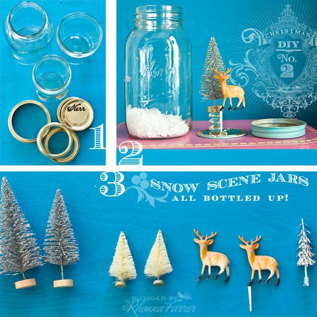 Snow scene jar tutorial