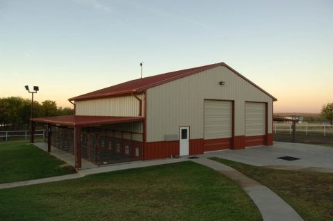 Steel Buildings Red Roof And Red Doors On Pinterest