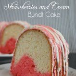 Strawberries and Cream Bundt Cake using JELL-O - Chocolate Chocolate and More!
