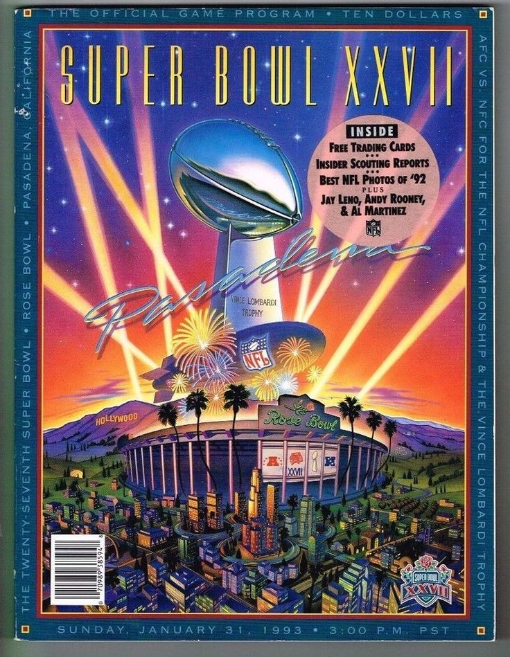 Super Bowl 25 XXVII Program January 31 1993 Dallas Cowboys Buffalo Bills CARDS | Sports Mem, Cards & Fan Shop, Fan Apparel & Souvenirs, Football-NFL | eBay!