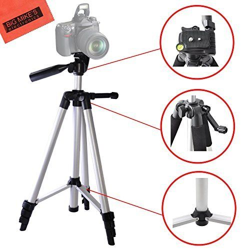 Lightweight 57-inch Professional Camera Tripod For Nikon DF, D90, D3000, D3100, D3200, D3300, D5000, D5100, D5200, D5300, D5500, D7000, D7100, D7200, D300, D300s, D600, D610, D700, D750, D800, D800e, D810, D810A Digital SLR Big Mike's http://www.amazon.com/dp/B00NJ044UU/ref=cm_sw_r_pi_dp_RZnQwb13XES44