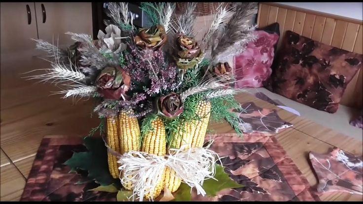 Jana Melas Pullmannová: Jesenná váza z kukurice