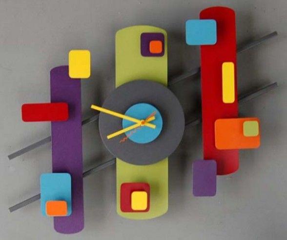 retro modern wall clock design