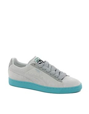 Puma Suede Classic Eco Trainers - Gray/Teal 2012