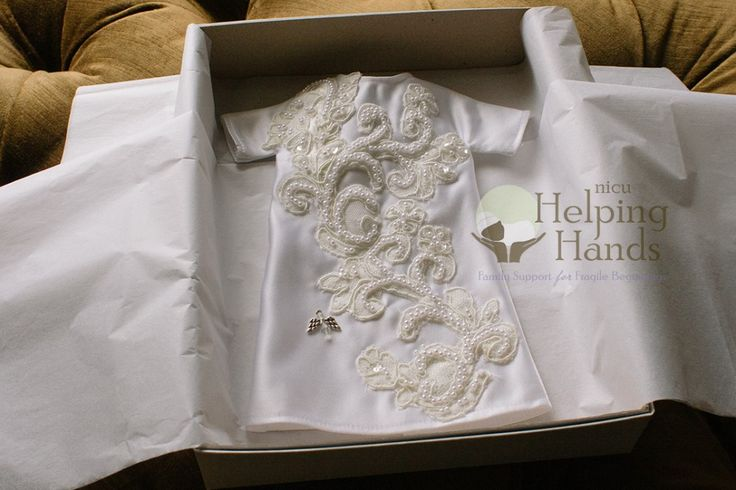 "Old wedding dress hanging around in your closet? Why not donate it to NICU Helping Hands? They take your old dress and make ""Angel Gowns"" for little ones who are leaving the world too soon."