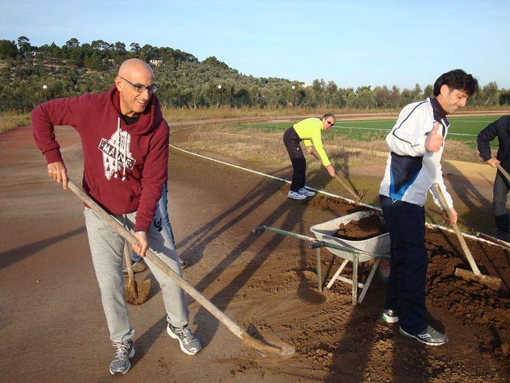 I Vieste Runners recuperano la pista di atletica.