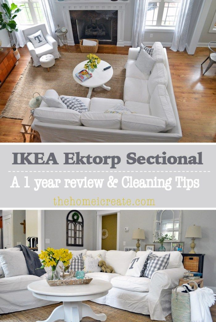 Ikea Ektorp Sectional 1 Year Review + Cleaning Tips | thehomeicreate.com