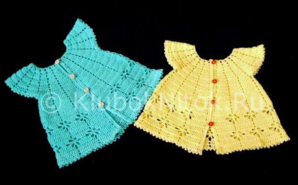 Схема вязания крючком платья для девочек 1 фото 275