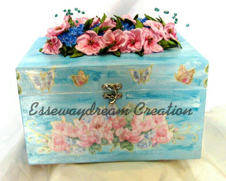 Kanzashi wedding bouquet box