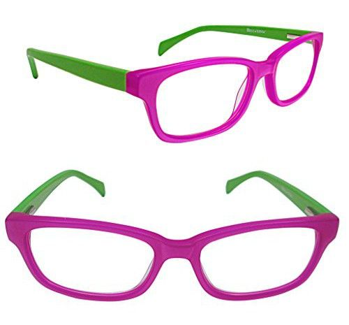 6962f86964 Bella Vista Nuovo Readers 51mm Rectangular Purple and Green 2.50x