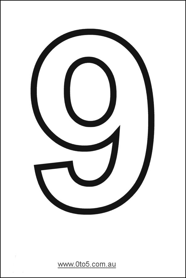 Number nine printable template n mero 9 graf a y for Number 9 cake template
