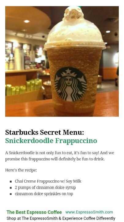Snickerdoodle Frappuccino