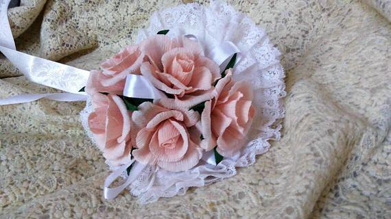 Bouquet da sposa in carta crespa